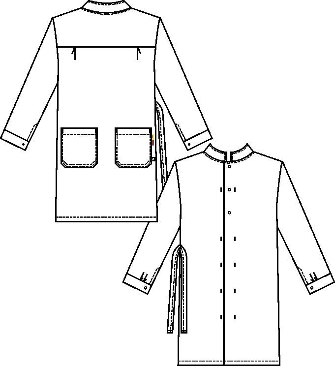 Damenmantel, langarm (Supporting Cotton)