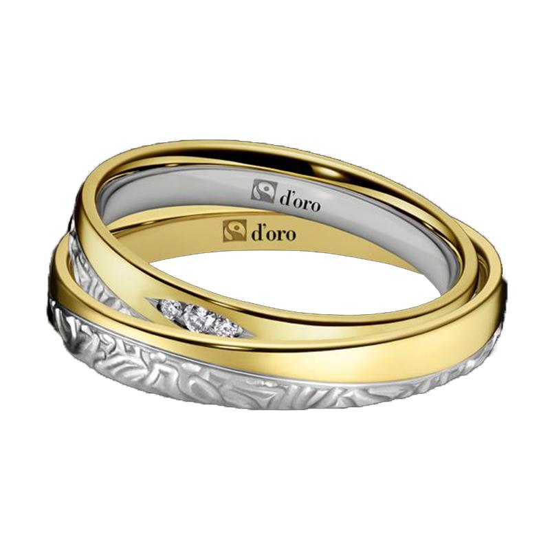 Ring Gold Weißgold mit Brillanten