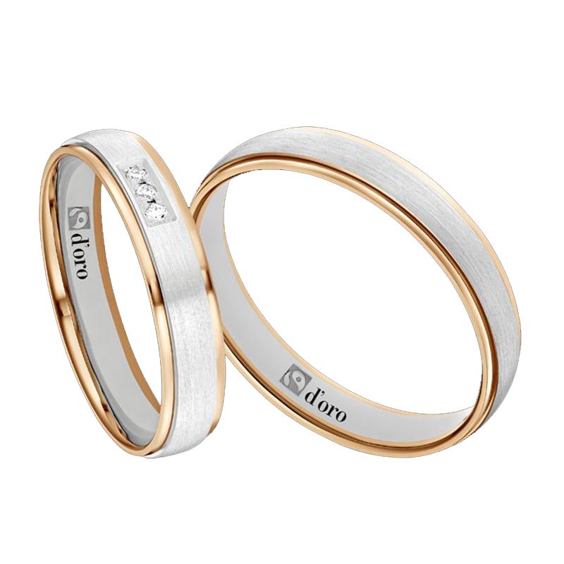 Ring Roségold Weißgold mit Brillanten