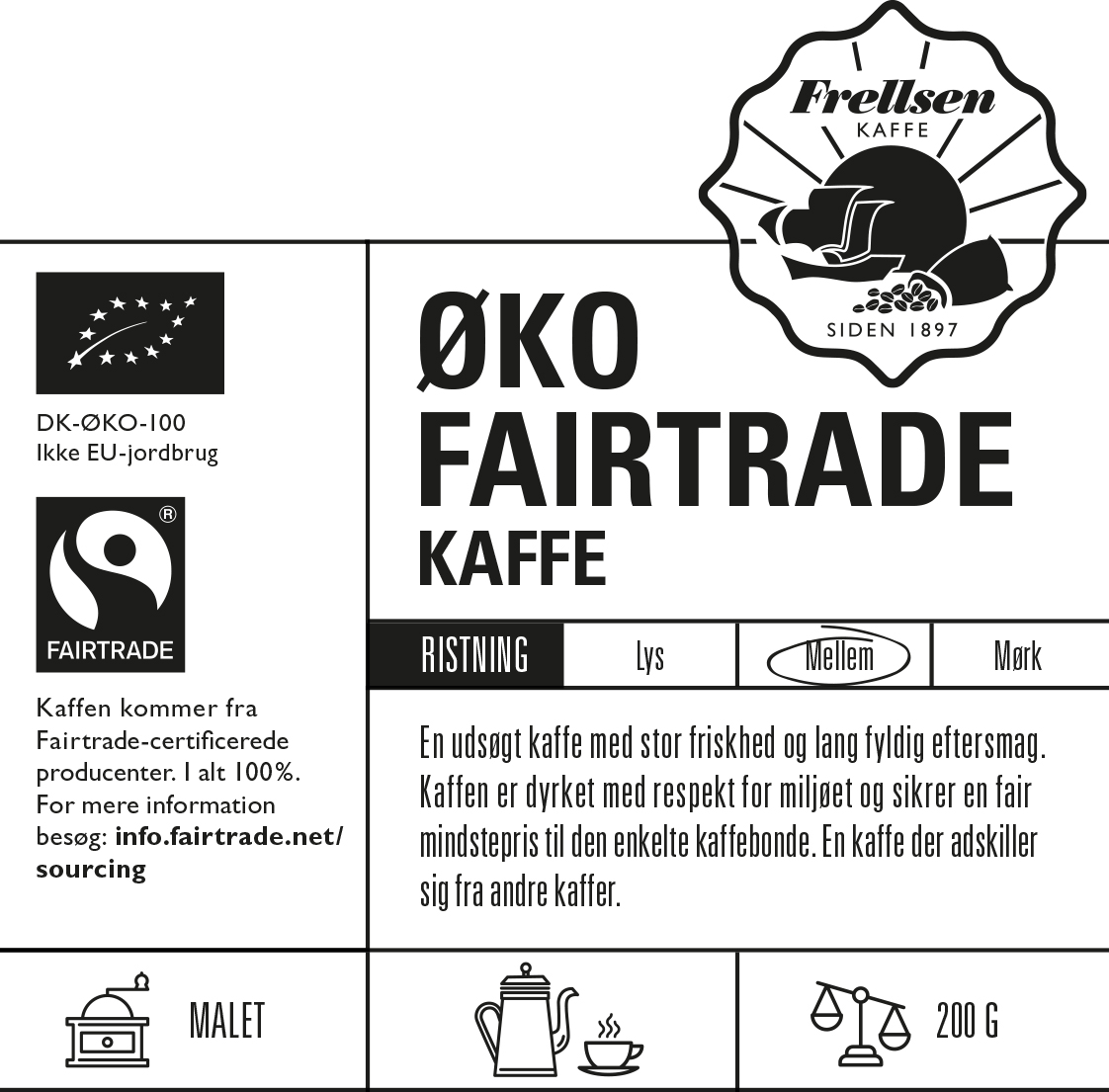 Øko Fairtrade Kaffe