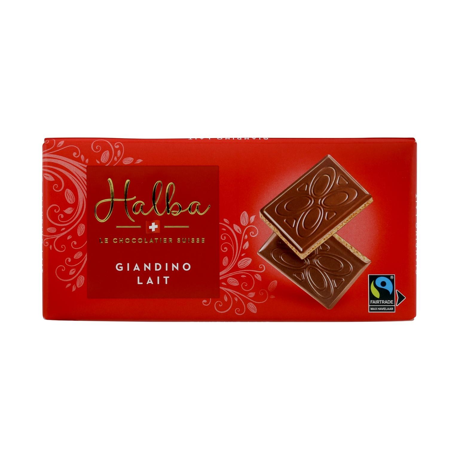 Schweizer Milchschokolade mit Mandelcrèmefüllung