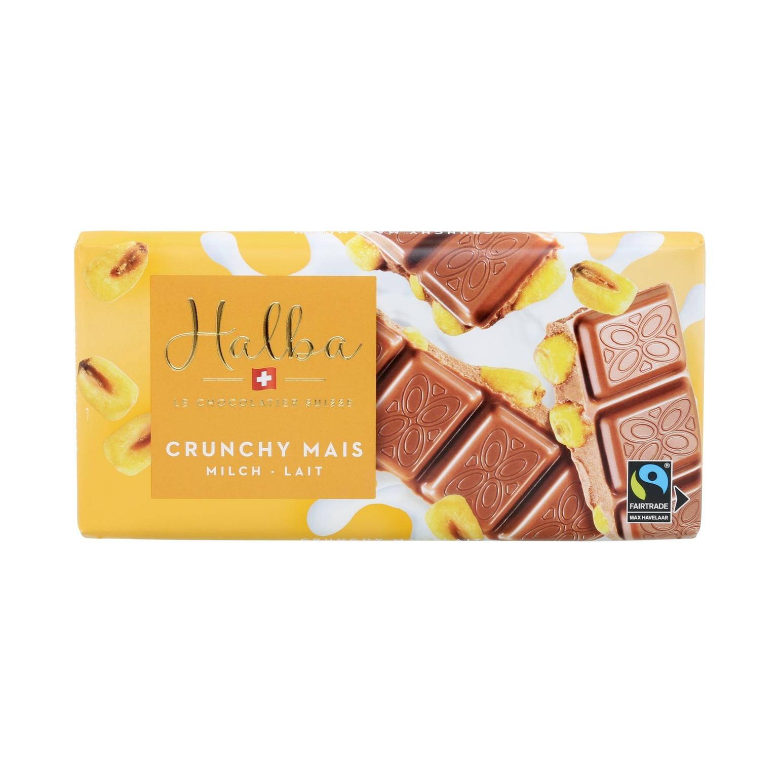 Schweizer Milchschokolade mit gesalzenem Mais