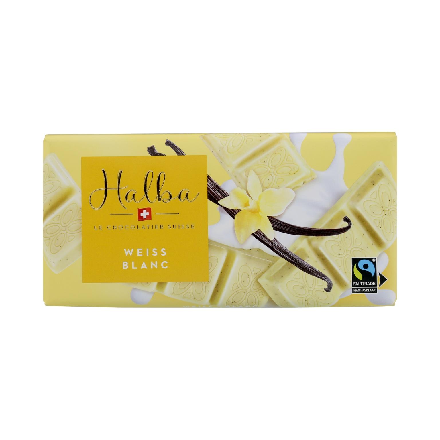 Schweizer weisse Schokolade mit Vanillesamen