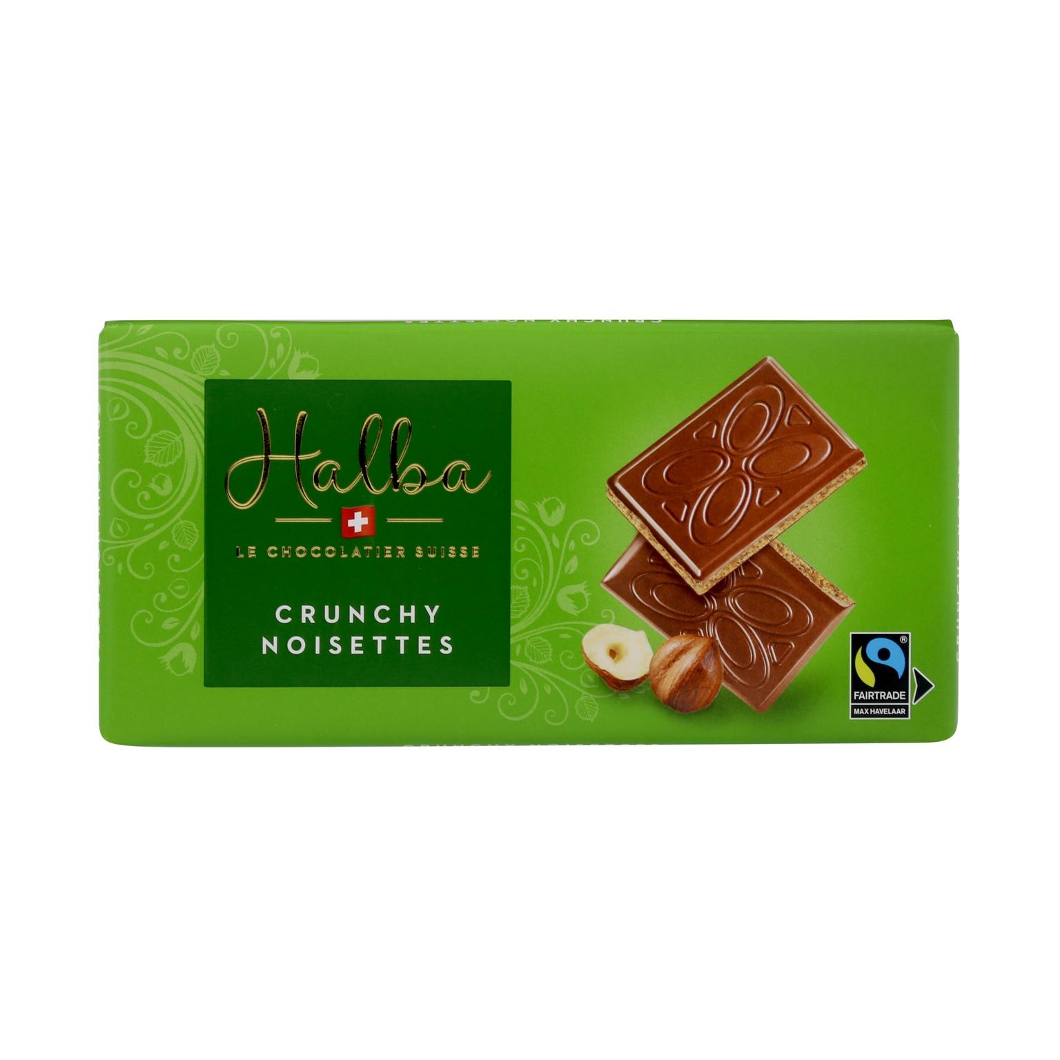 Schweizer Milchschokolade mit Haselnuss-Pralinéfüllung