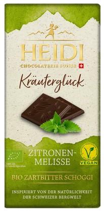 Dunkle Schokolade mit Zitronenmelisse Kräuterglück