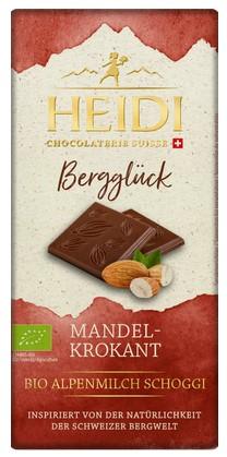 Milchschokolade mit Mandelkrokant Bergglück