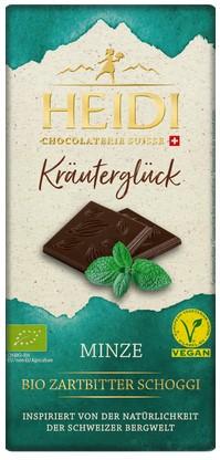 Dunkle Schokolade mit Minze Kräuterglück