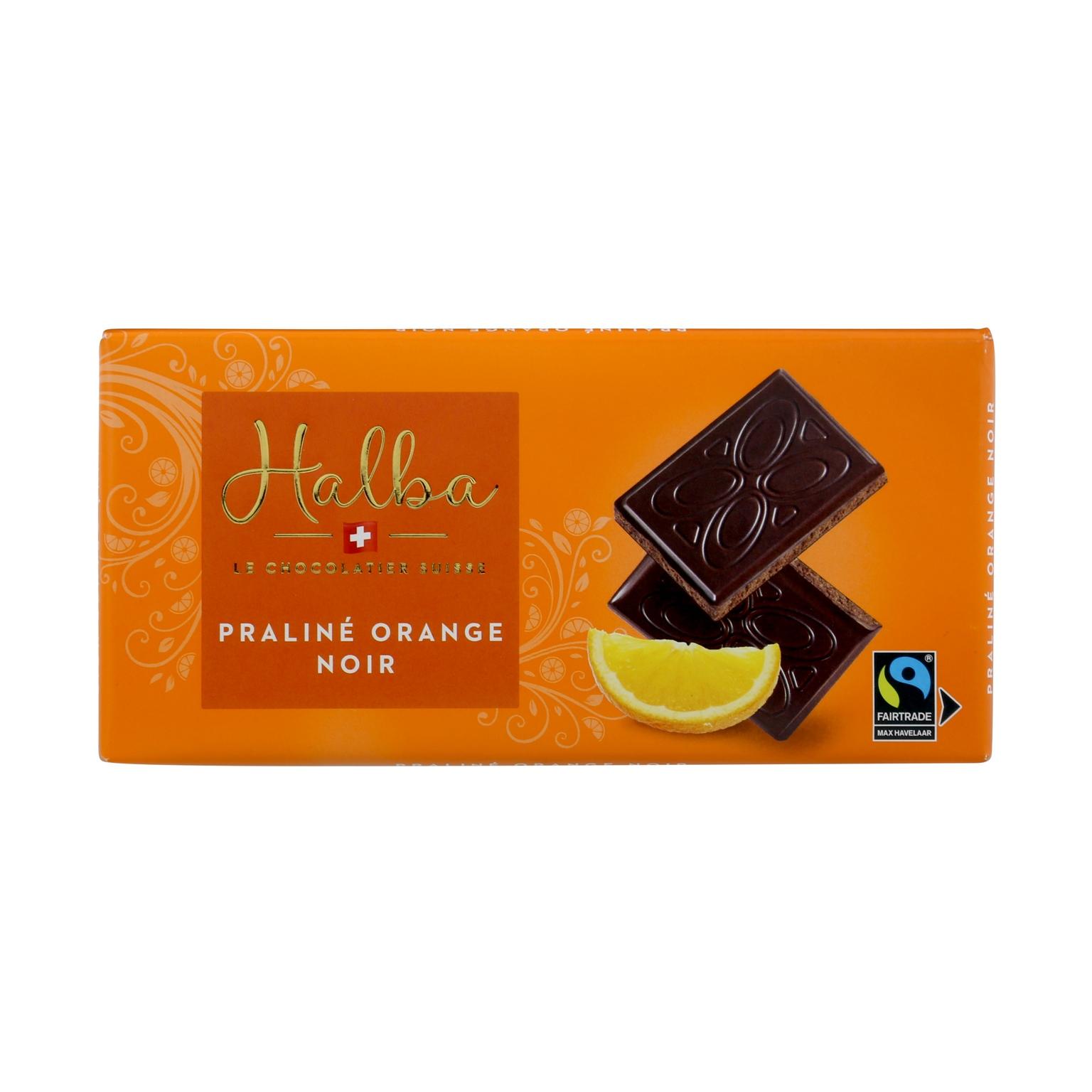 Schweizer Dunkle Schokolade mit Orangenfüllung