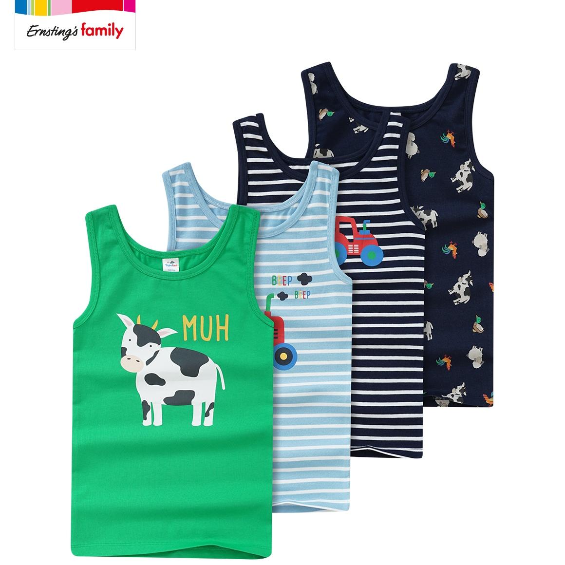 Kleinkinder Jungen Unterhemden, 4er Pack