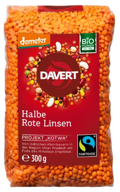 Halbe Rote Linsen 8x300g Kotwa