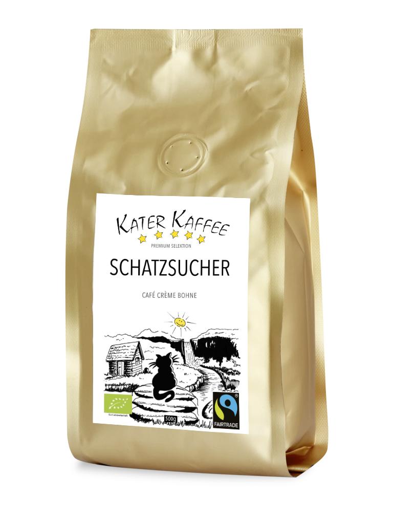 Kater Kaffee Schatzsucher
