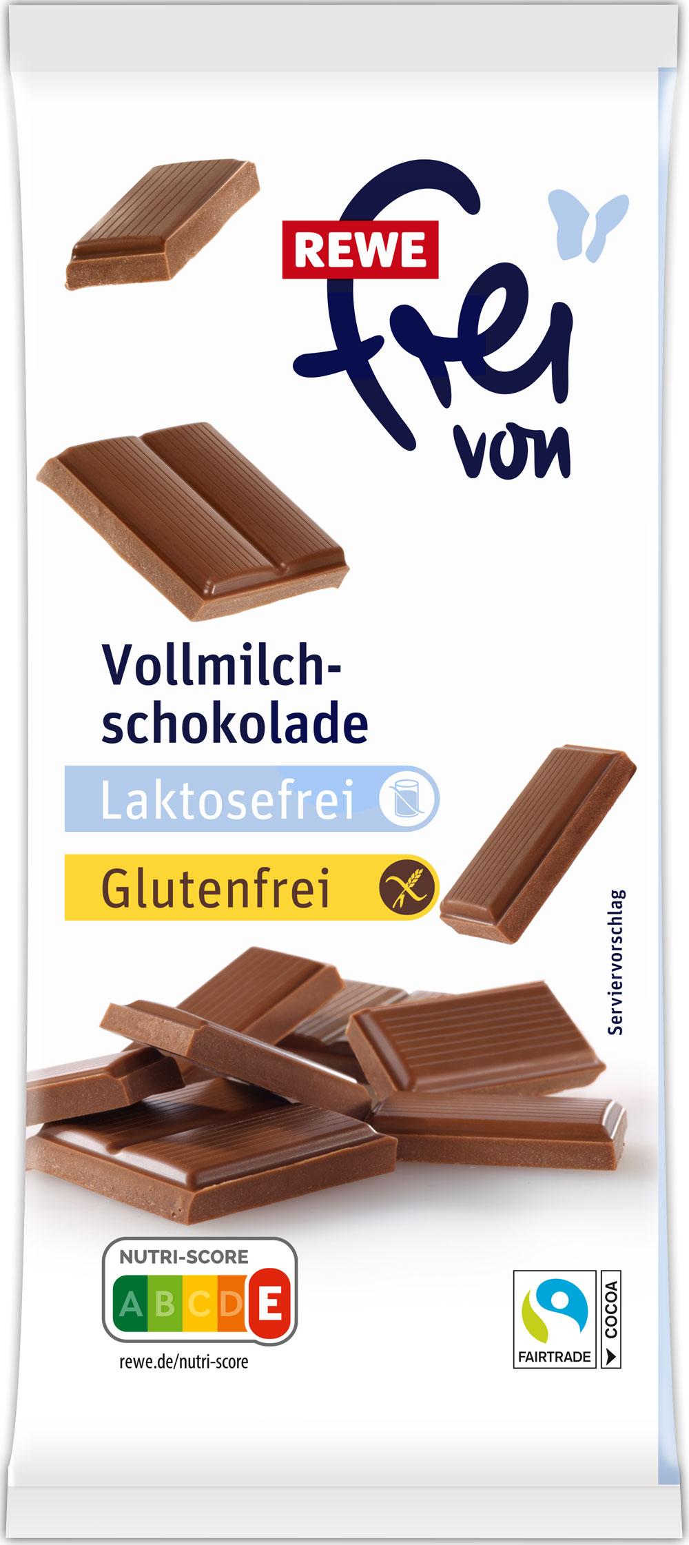 Laktosefreie Vollmilchschokolade