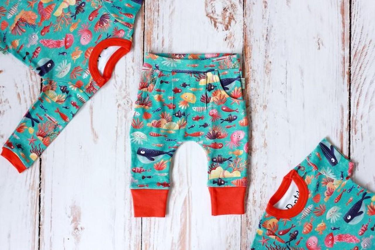 Zestaw Ocean body krótki + długi rękaw + spodnie