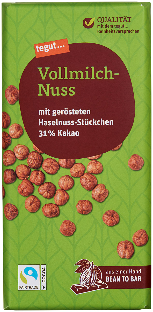 Vollmilch-Nuss Schokolade