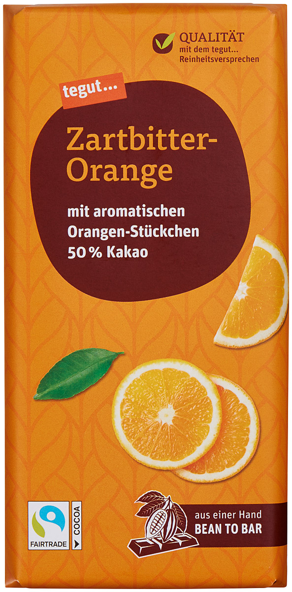 Zartbitter-Orange Schokolade