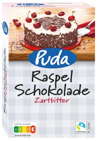 Puda Raspelschokolade Zartbitter