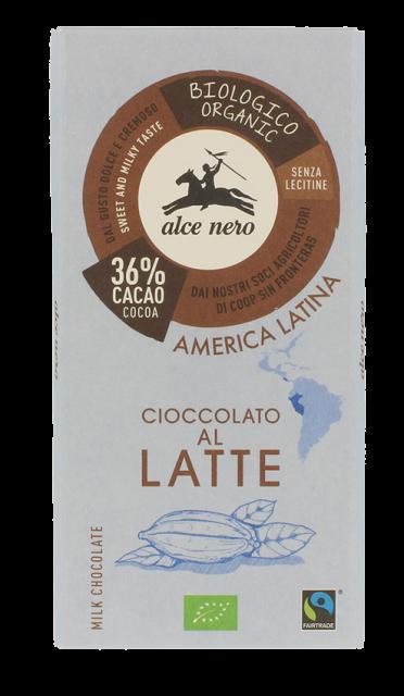 Alce Nero – Cioccolato Latte 36 BIO 100gr