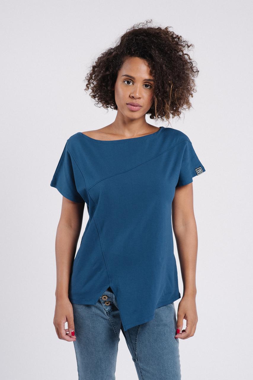 T-shirt Raw Blue z bawełny Fairtrade