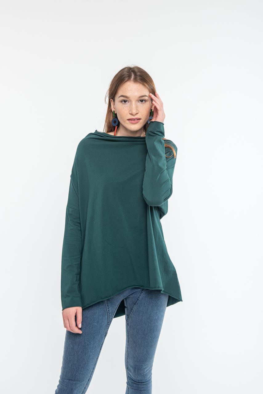 Bluzka Minimal Green z bawełny Fairtrade