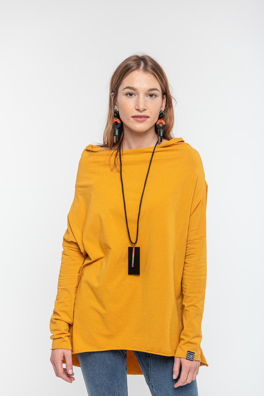 Bluzka Minimal Sunflower z bawełny Fairtrade