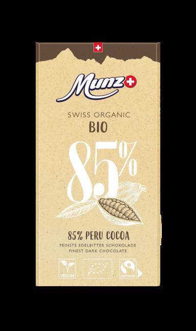 Tafelschokolade Peru 85 Prozent (12 x 100g)