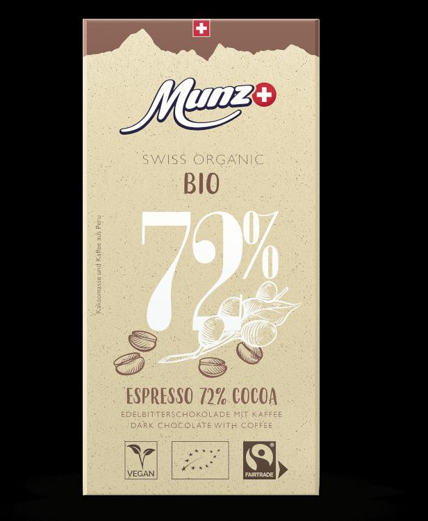 Tafelschokolade Espresso 72 Prozent (12 x 100g)