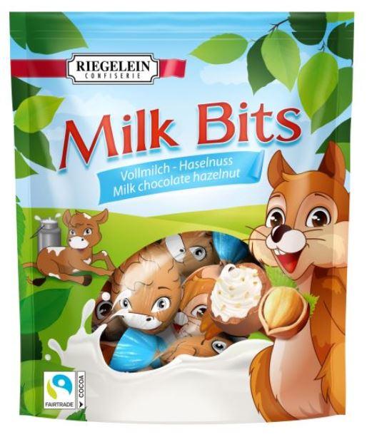 Riegelein Milk Bits Vollmilch-Haselnuss