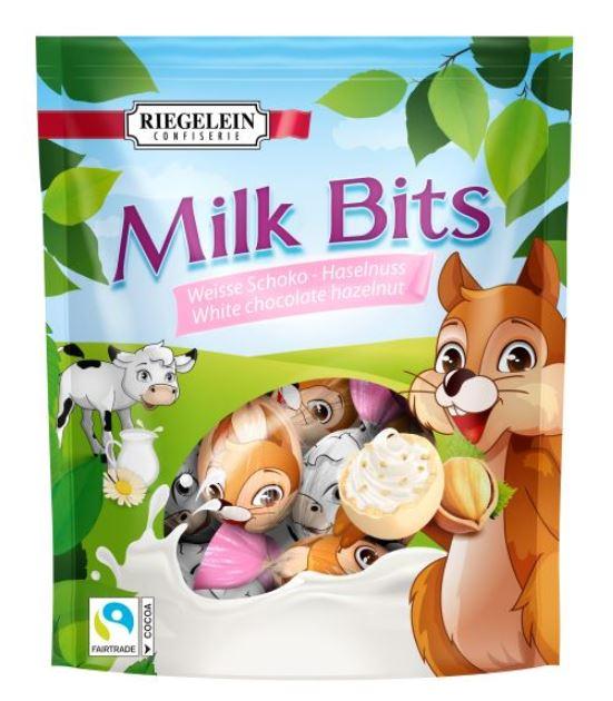 Riegelein Milk Bits Weiße Schoko-Haselnuss