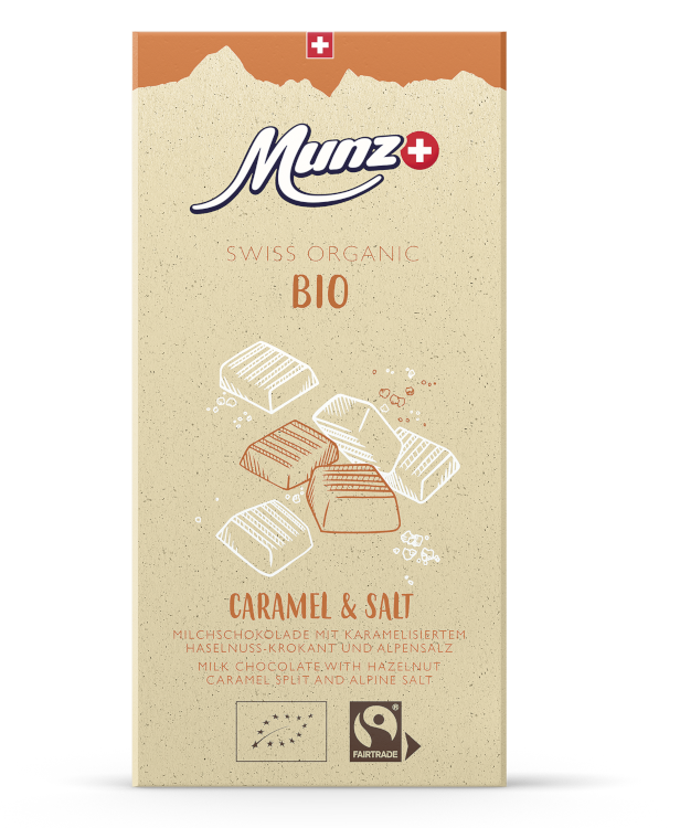 Tafelschokolade Caramel & Salt