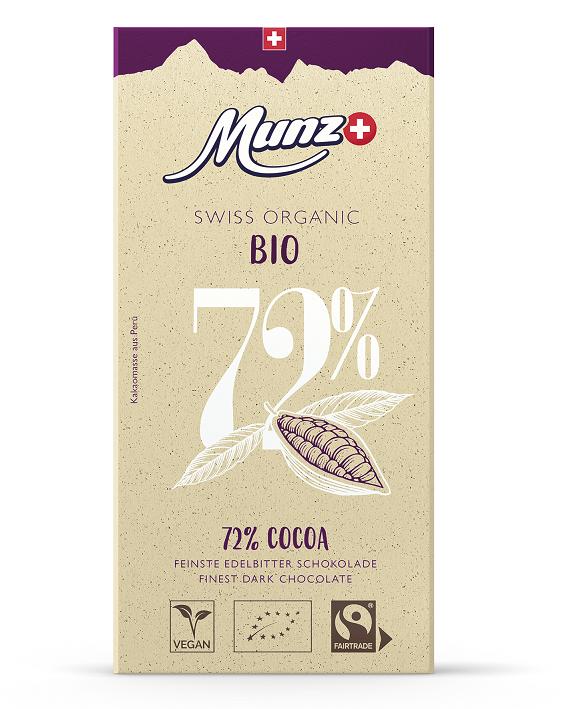 Tafelschokolade 72 Prozent