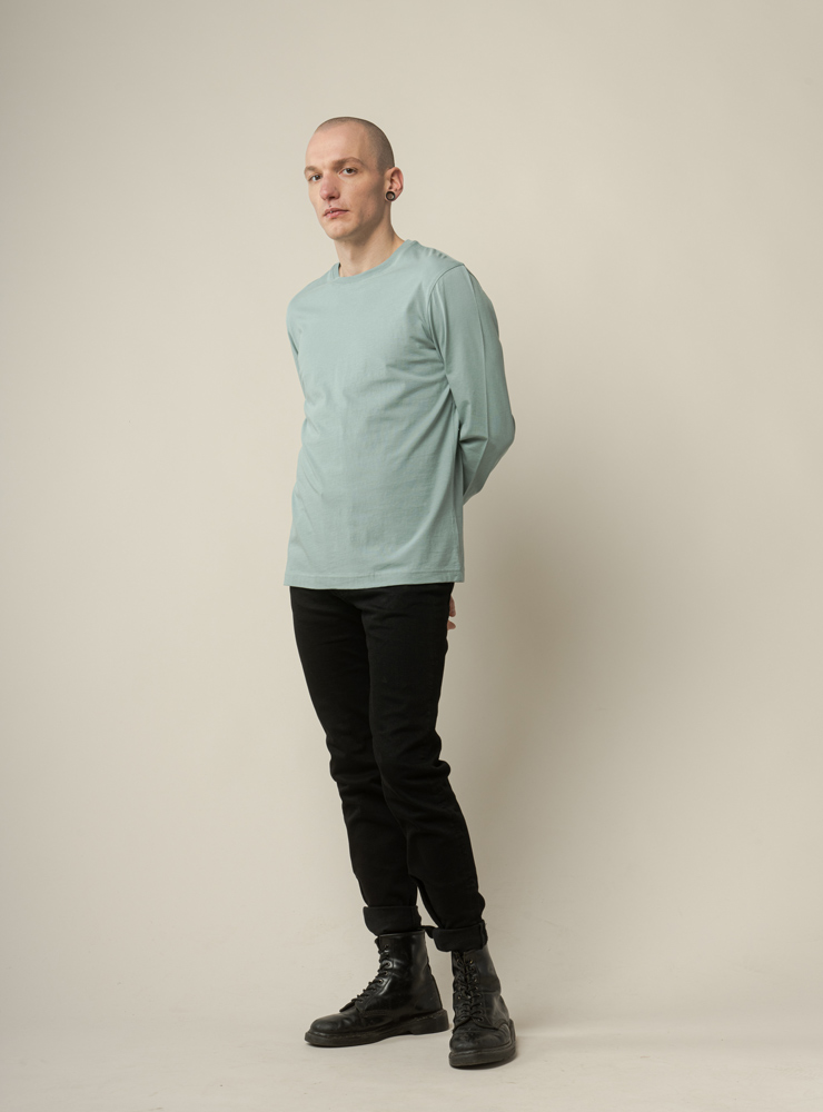 Herren Basic Longsleeved Shirt JERIN