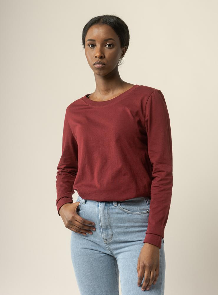 Damen Basic Langarmshirt REENA