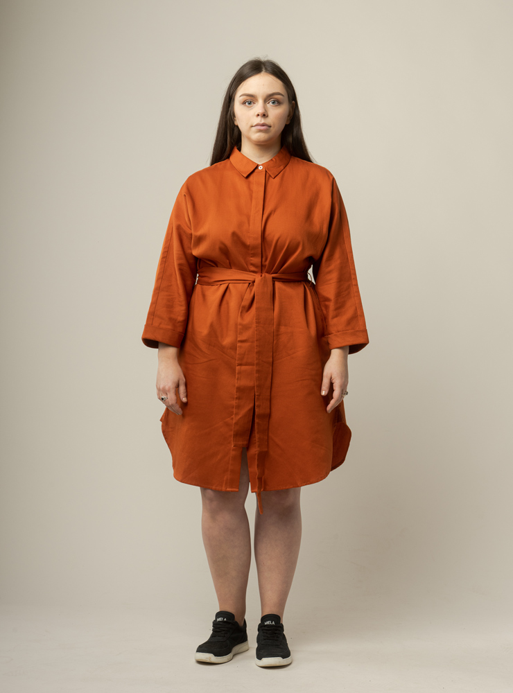 Damen Hemdkleid mit Gürtel CHARU