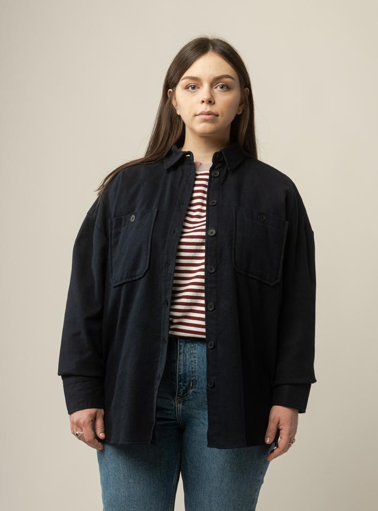 Damen Flanell Overshirt SAIRA