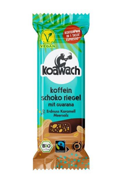 koawach Koffein Schoko Riegel Typ Erdnuss Karamell Meersalz