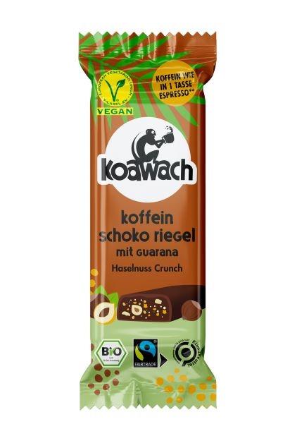 koawach Koffein Schoko Riegel Haselnuss Crunch