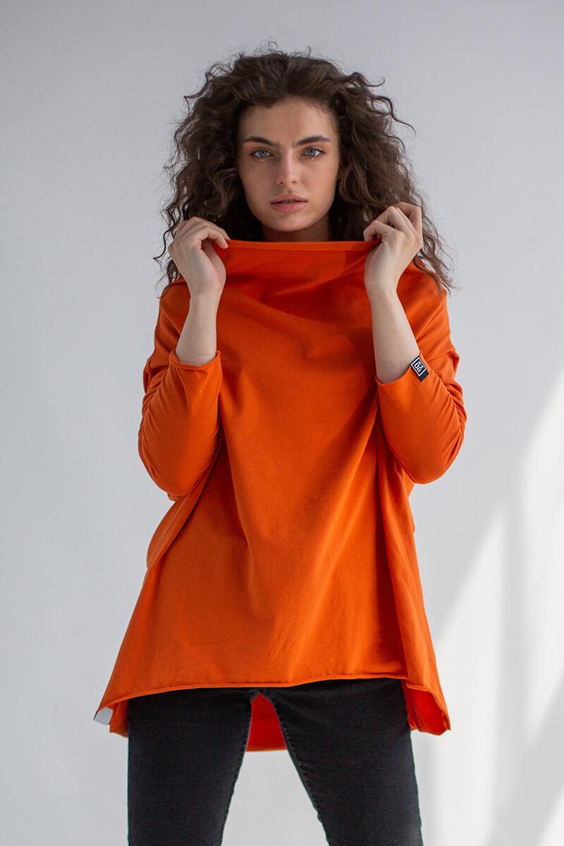 Bluzka Minimal Orange z bawełny Fairtrade