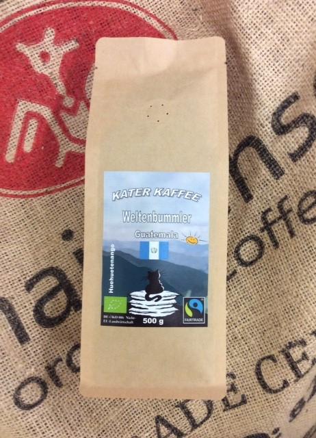 Kater Kaffee Weltenbummler Guatemala