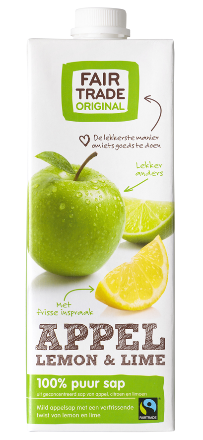 Fair Trade Original Jus de pommes limon lime 1L