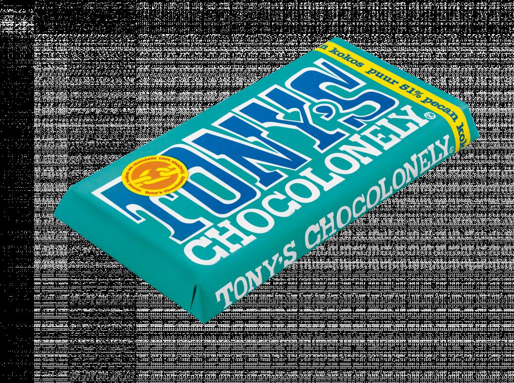 Dark pecan coconut chocolate 51pct, 170gr FT, 15 CU