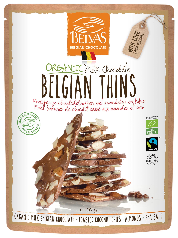 Belvas – Belgian Thins – Chocolat au lait – 120 gr