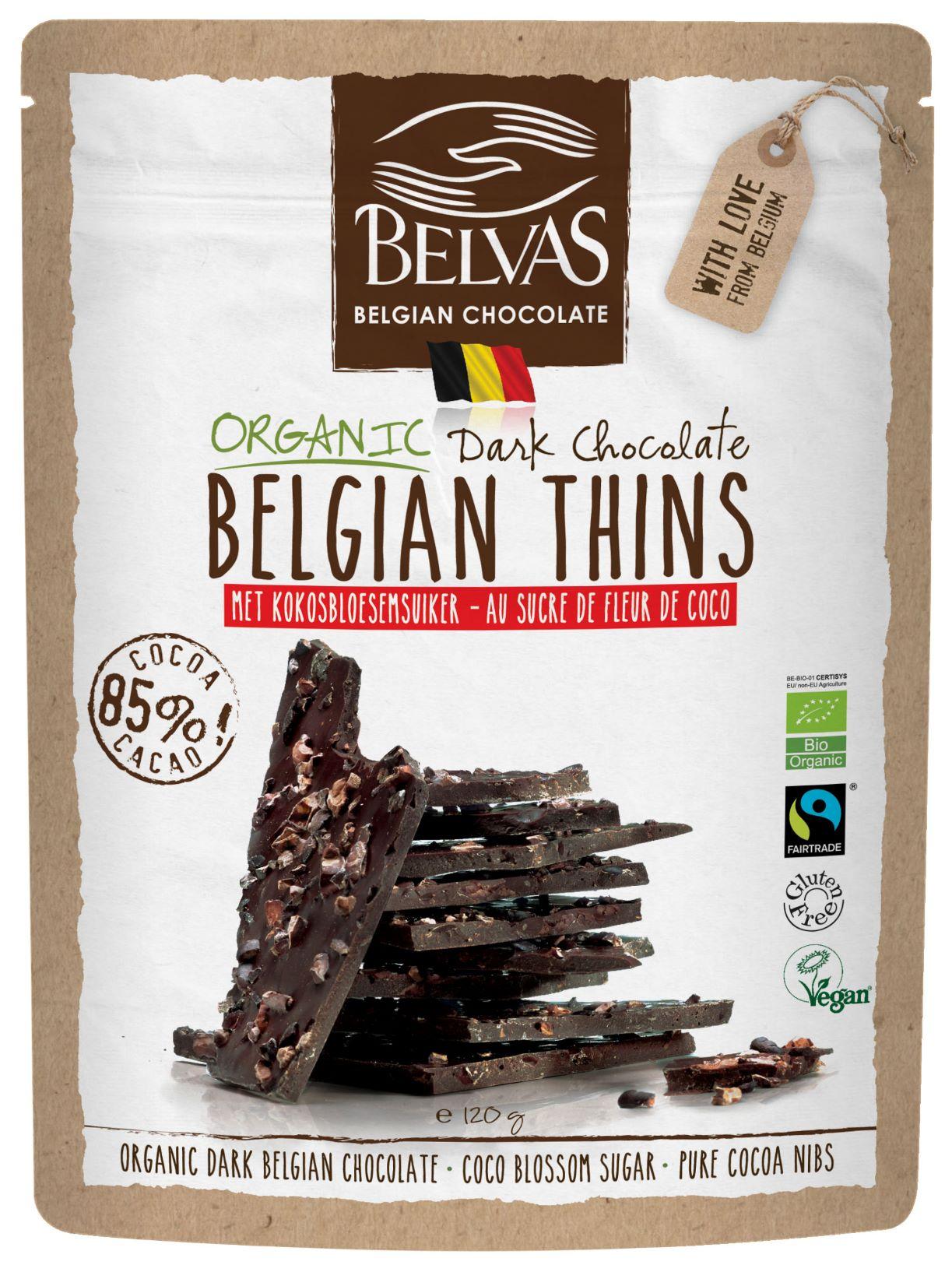 Belvas – Belgian Thins – Chocolat noir – 120 gr