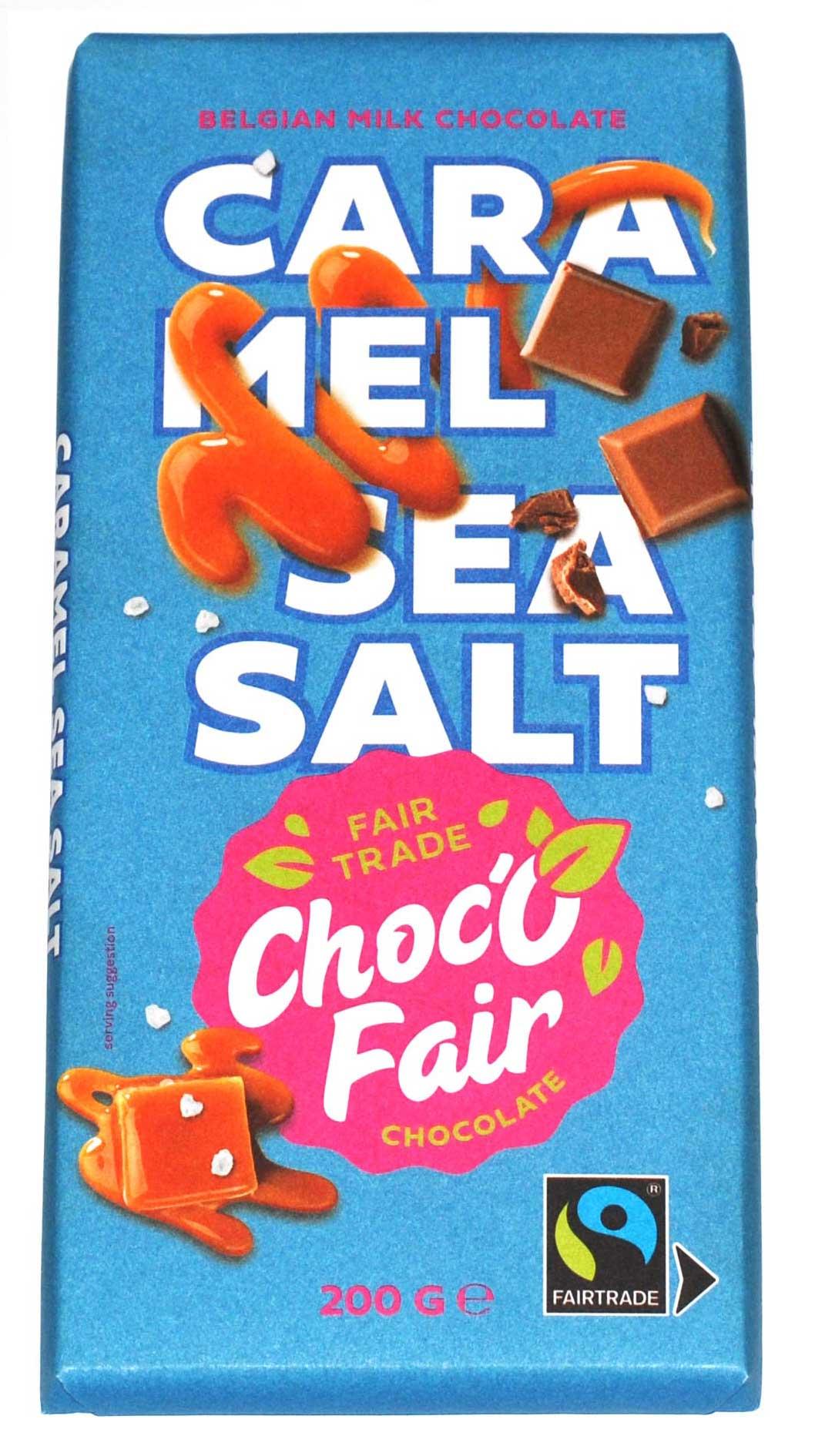 Choc-O-Fair Milk chocolate with caramel and salt 200g