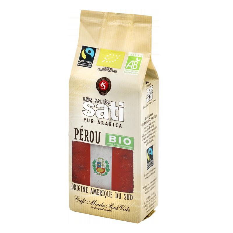 Café moulu arabica Pérou bio fairtrade 250g