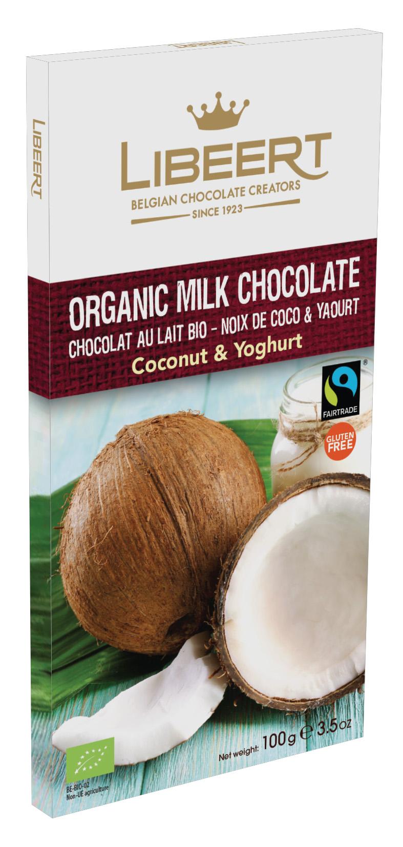 Libeert 100g tab milk kokos BE-BIO-02 FT