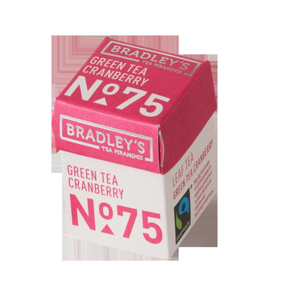 Bradleys Piraminis Green tea Cranberry 30x2g