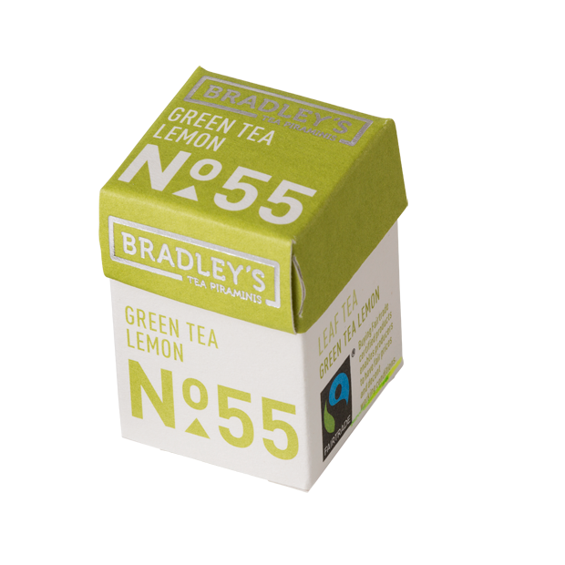 Bradleys Piraminis Green tea Lemon 30x2g