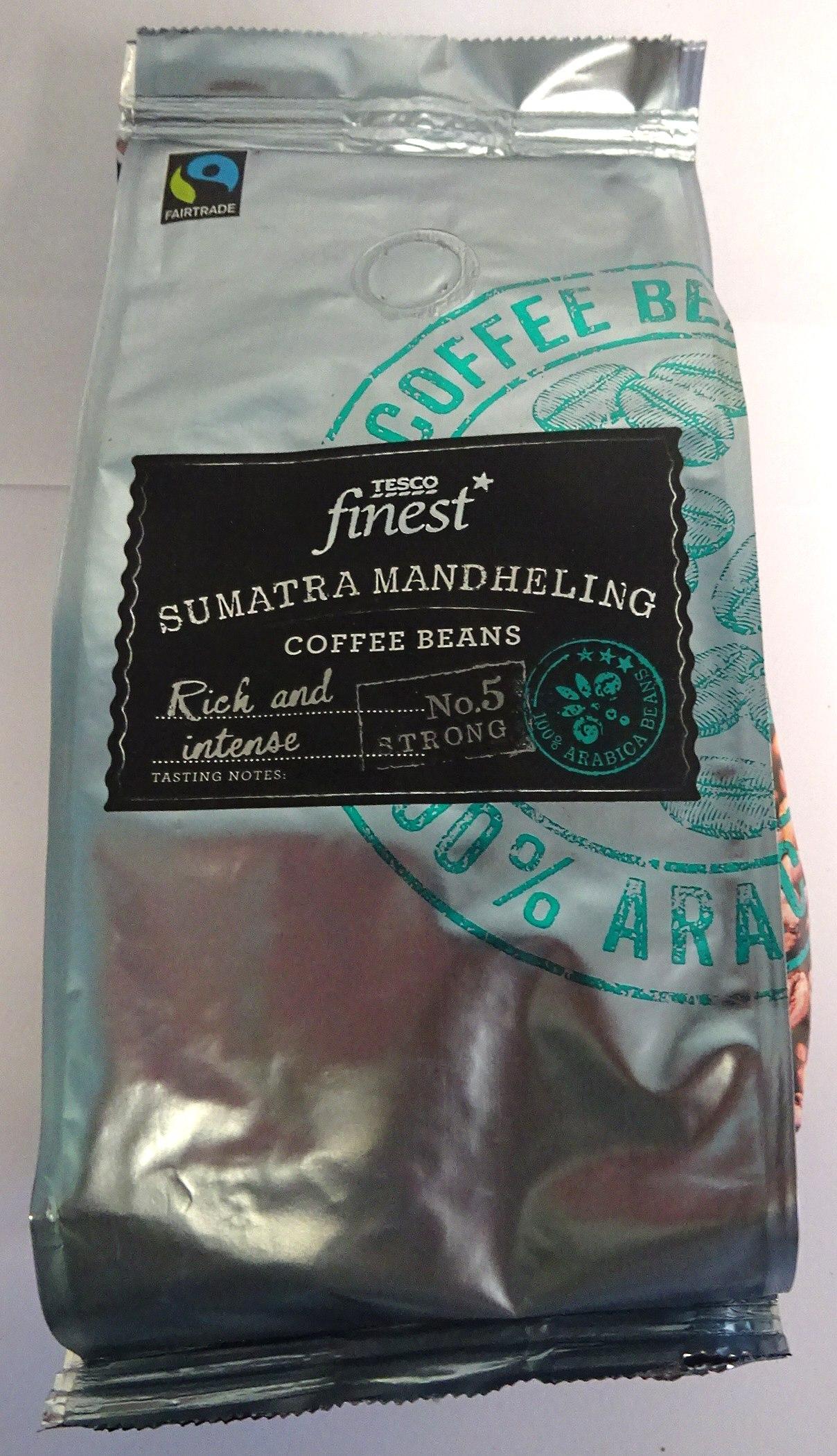 Tesco Finest FT Sumatra Mandheling Beans 6x227g