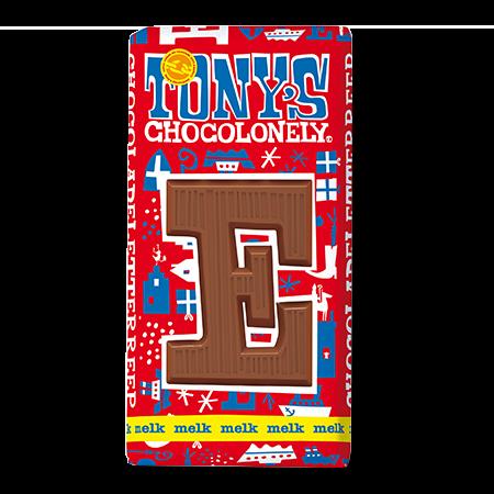 Melkchocolade letterreep E 32pct, 180gr FT, 15 stuks