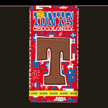 Melkchocolade letterreep T 32pct, 180gr FT, 15 stuks